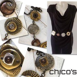 Chico's Artisan chain Concho belt SZ S / M